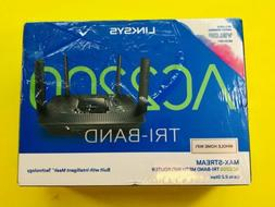Linksys Tri-Band Mesh WiFi Router Home Max-Stream AC2200 Wir