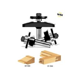 3-Piece Timberline TRS-230 Shaker Raised Panel 1//2 Shank Door Making Router Bit Set with Back Cutter