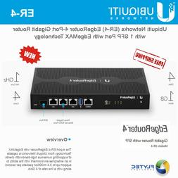 Ubiquiti EdgeRouter 4, 4-Port Gigabit Router with 1 SFP Port