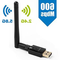 Lynec UC6 600Mbps Wireless USB Wifi Dongle Network Adapter,