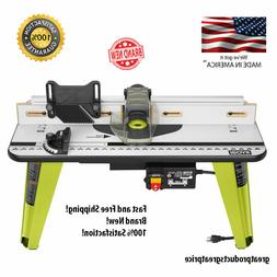 Universal Router Table Aluminum Adjustable Fence Built-in Va