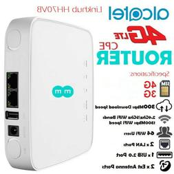 UNLOCKED Alcatel LinkHub HH70 Cat7 4G LTE WiFi Router with E