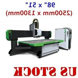 """US! 98"""" x 51"""" CNC Router Machine, with Italy 9KW Spindle and"""