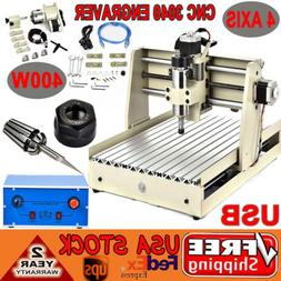 usb 4 axis 3040 400w CNC Router cnc engraving milling machin