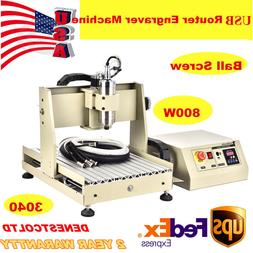 USB 4 AXIS 3040 CNC ROUTER ENGRAVER 800W VFD ENGRAVING Drill