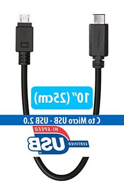USB Type C Adapter Cable, HomeSpot USB-C to Micro USB for Ap