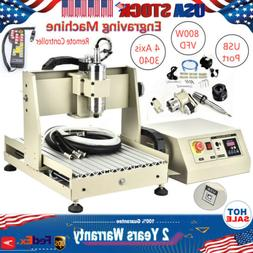 USB CNC3040T 4-axis Router 800W Engraving Cutting Engraver M
