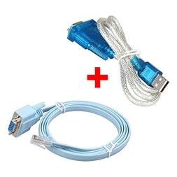 Relper-Lineso USB to Serial DB9 Male Adapter Cable PL2303 Ch
