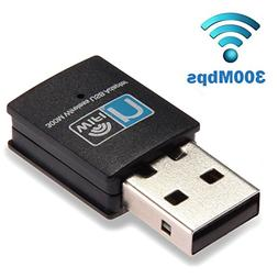 300Mbps USB WiFi Adapter, LOTEKOO Wireless LAN Network Card