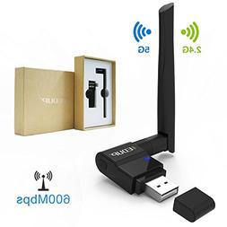 Kootek 600Mbps USB Wifi Adapter 802.11ac Wireless Wifi Dongl