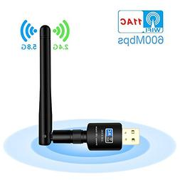 USB Wifi Adapter, Faster Wifi-Wireless adapter with High Gai