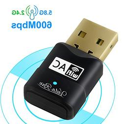 USB WiFi Adapter, High-Speed 600Mbps Dual Band  802.11 AC US