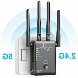 VICTONY WA1200-1200Mbps Dual Band WiFi Range Extender with 4