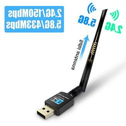 Fenvella Wifi Adapter USB Wireless Dongles 5dbi WiFi Antenna