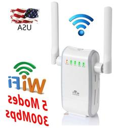 WiFi Range Extender 300Mbps Router Signal Increase Dual Exte