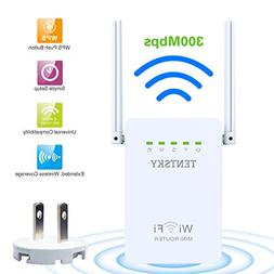Wifi Repeater, Tentsky Network Wifi Range Extender 300M Wire