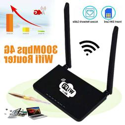 4G LTE Wireless Router 300Mbps CPE Double Antenna WiFi Hotsp