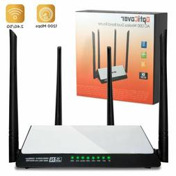 WiFi Router AC1200 Mbps - High-Speed Dual Band 2.4/5Ghz, 4 L