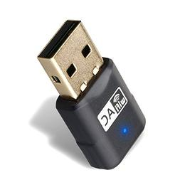Wireless AC 600Mbps USB Network Adapter, Dual Band WiFi Dong