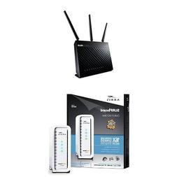 ASUS  Wireless-AC1900 Dual-Band Gigabit Router & ARRIS SURFb