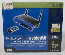 Linksys wireless B Network Kit Router Notebook Adapter New