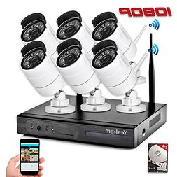 YESKAMO Wireless Security Camera System Outdoor 1080p Full H