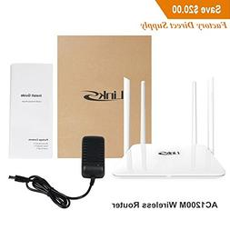 Wireless Router,LinkS AC1200Mbps Dual Band 5GHZ/2.4GHZ Long