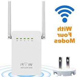 Wireless Router, LURICO 300Mbps Multi-function Mini Wireless