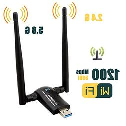 1200Mbps Wireless USB Wifi Adapter, ZTESY Wifi Adapter,AC120