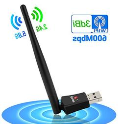 BENGIX Wireless USB Wifi Adapter Dual Band  AC600Mbps 3dBi H