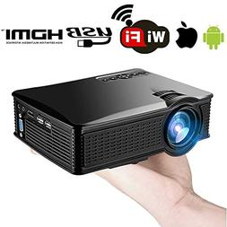 Wireless Wifi iPhone Android Mobile Mini Projector 1500 Lume